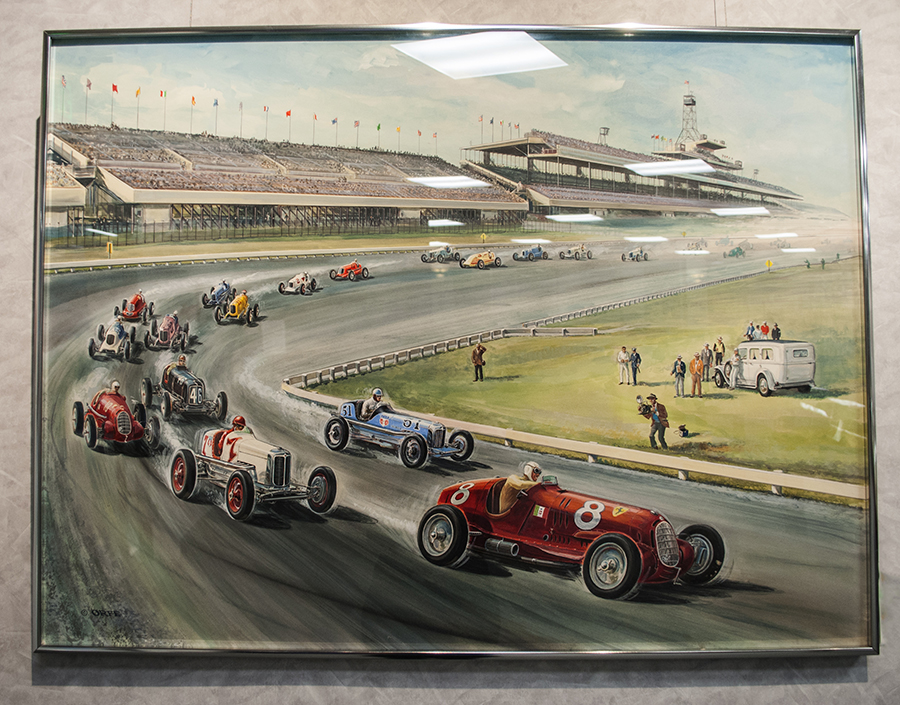 68442620 The paintings on display in the Museum's gallery depicted auto racing  legends including Mario Andretti, Mark Donohue, Parnelli Jones and Joe  Leonard.