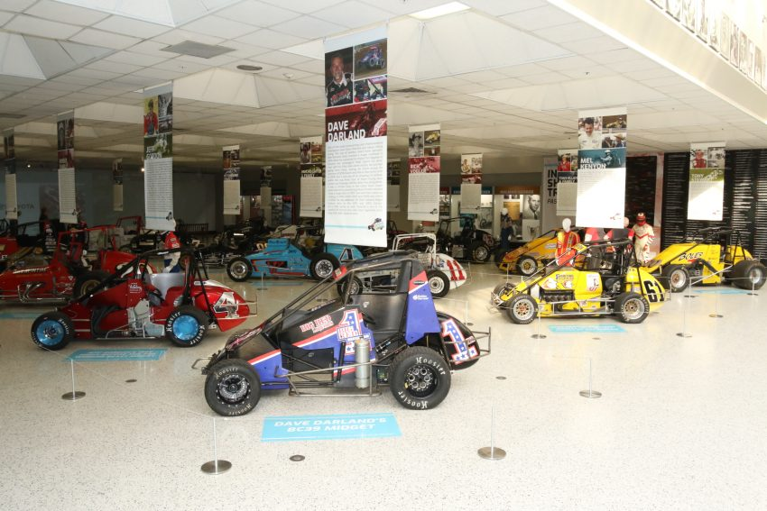 """More than 40 cars are part of """"Hoosier Thunder"""" at the IMS Museum."""